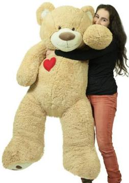 Giant 5 Foot Teddy Bear 60 Inch Soft Plush Animal Heart on C