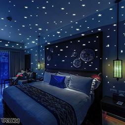 Glow Dark Wall and Ceiling Stars Stickers Decor Bedroom Home