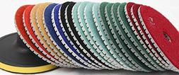 "5"" Inch Diamond Polishing Pad Wet/Dry Set of 12+1 Backer Pad"