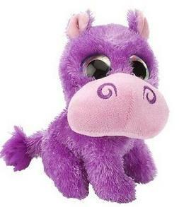 5 Inch Sweet & Sassy Wild Grape Purple Hippo Stuffed Animal
