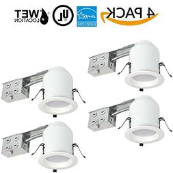 "Four Bros 4"" Inch LED Remodel LED Recessed Light Kits, IC Ra"