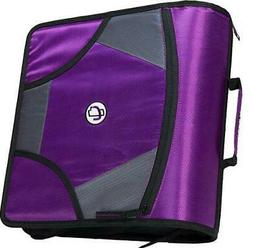 Case-it King Sized Zip Tab 4-Inch D-Ring Zipper Binder with