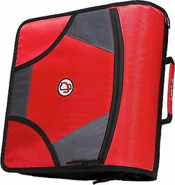 New Case-it XL 3 Ring D-Ring 4 INCH Zipper Binder with 5-Tab