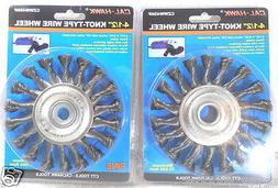 """KNOTTED WIRE WHEEL LOT OF  4 1/2"""" INCH x 5/8""""  ARBOR KNOTTED"""