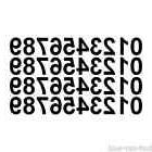 """0-9 Numbers Set 40 Vinyl Decals Stickers 5"""" inches tall - Se"""