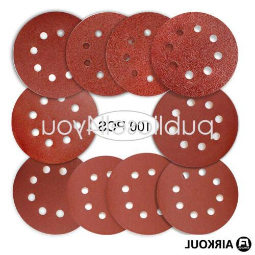 100PCS Hole and Round Sandpaper Sheets