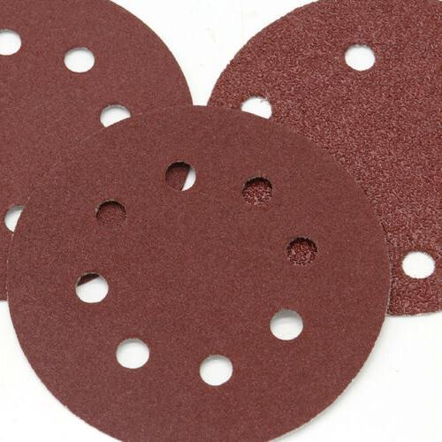 125mm Discs Hole Hook Sandpaper Sander 40-2000