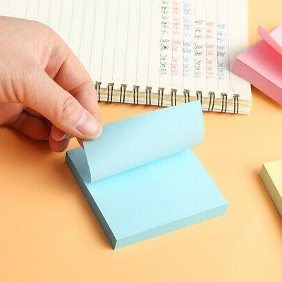 3 3 Color Square Sticky 100 Sheets Notepad Memo