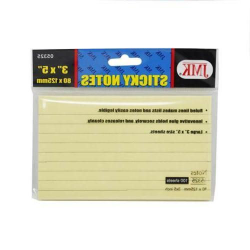 3x5 inch sticky notes 100 sheets ea