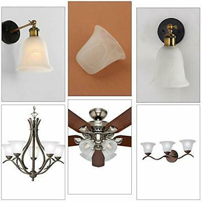 4 Pack Bell Alabaster Glass Lamp Replacement with