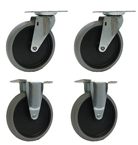 5 caster wheels for rubbermaid utility carts