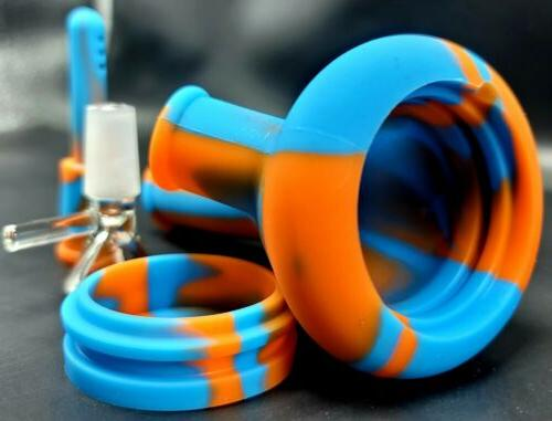 5 Inch Unbreakable Silicone Bong Detachable Water Pipe SCREENS!