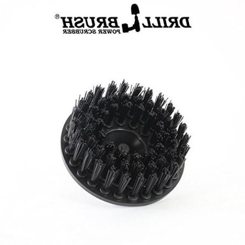 5 Inch Black Ultra Stiff Brush for Heavy Duty Cleaning Drillbrush