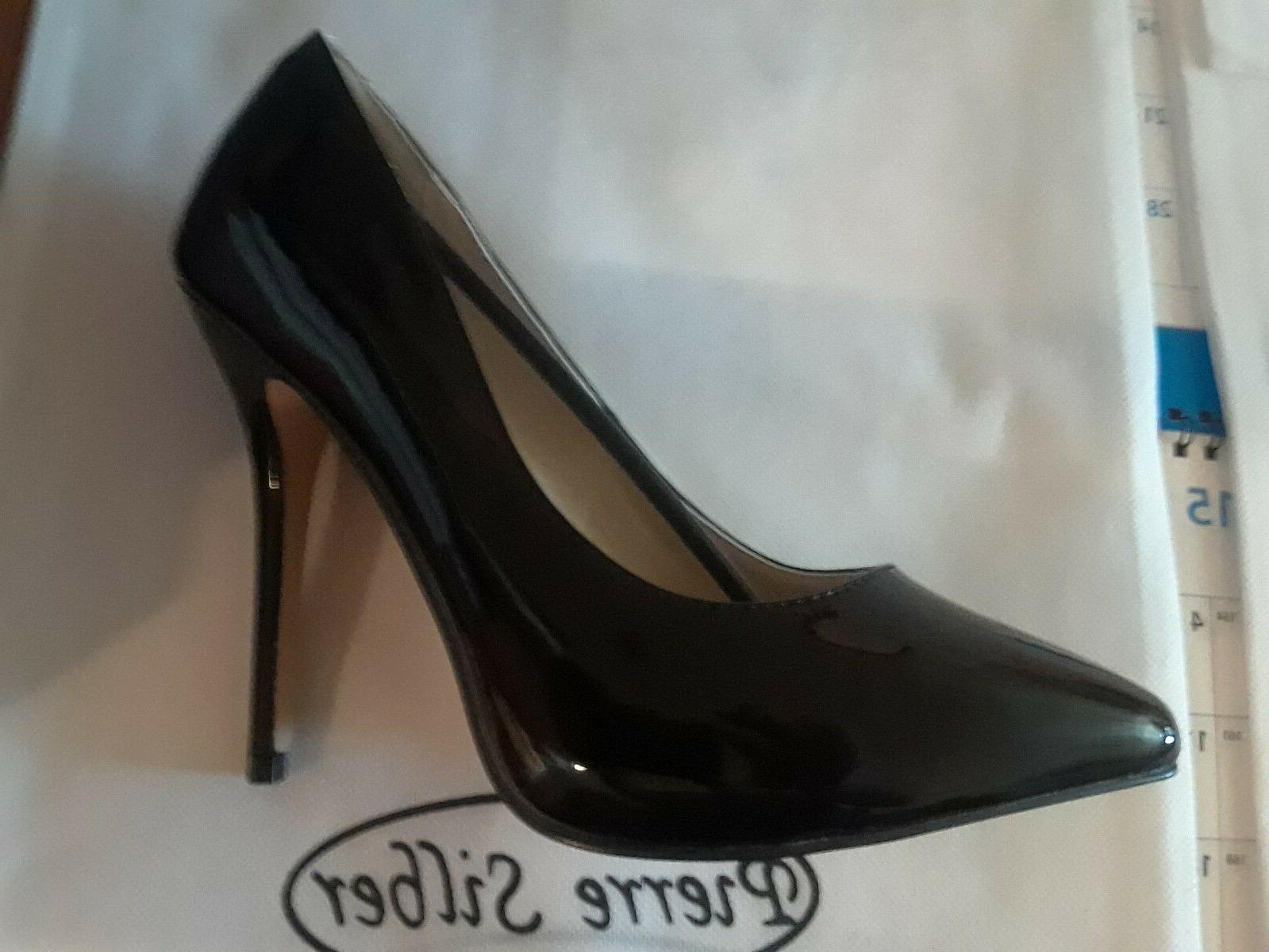 5 inch heel hidden platform pump black