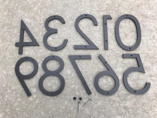 5 inch modern house numbers economy series