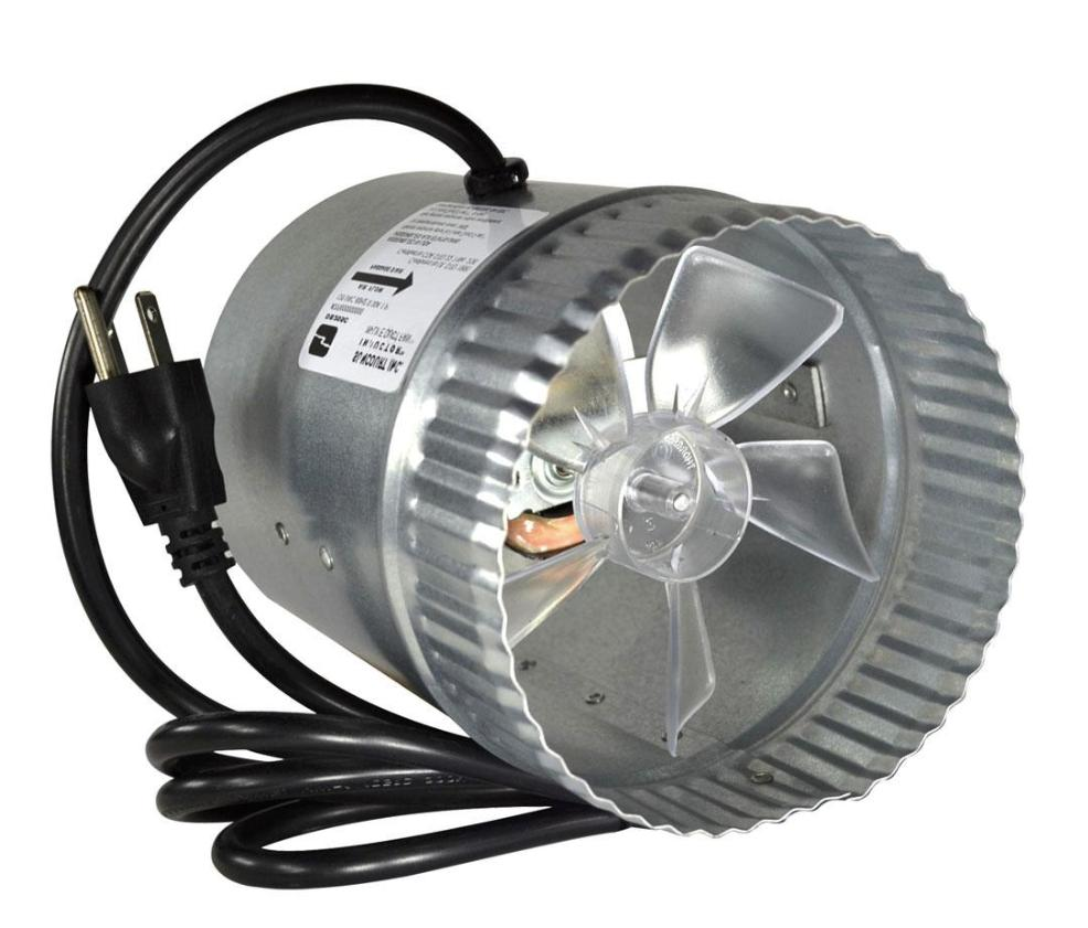 5 Inch Round In-Line Metal Galvanized Steel Duct Fan Air Cor