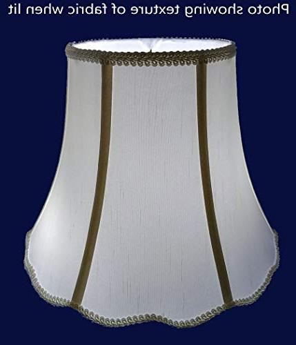 """American 5""""x 10""""x 8"""" Scallop Soft Shantung Tailored Lampshade, Light"""