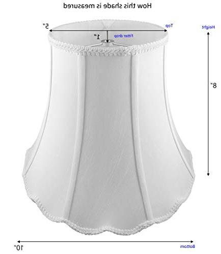 """American 5""""x 8"""" Soft Shantung Tailored Lampshade,"""