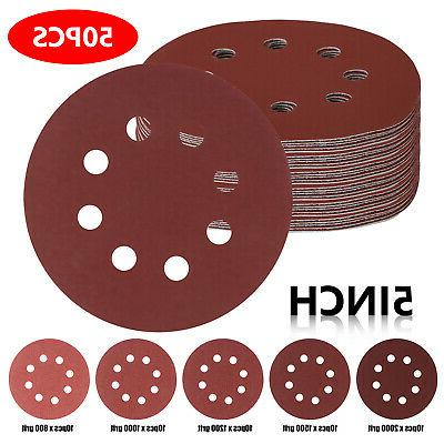 50pcs 5inch 8 hole hook and loop