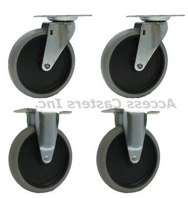5srm45 5 caster wheels for rubbermaid utility