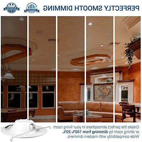 Hyperikon LED Light 14W Dimmable LED Fixture, Ceiling Recess Can Lights, Trim, 3000K, CRI84,