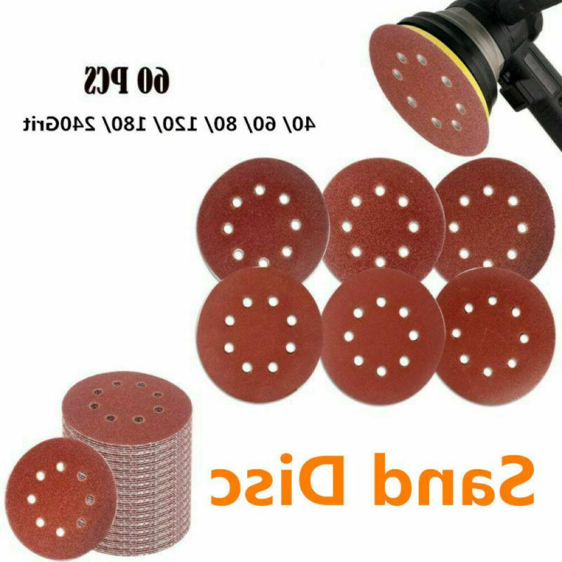 60pcs 5 inch hook and loop grid