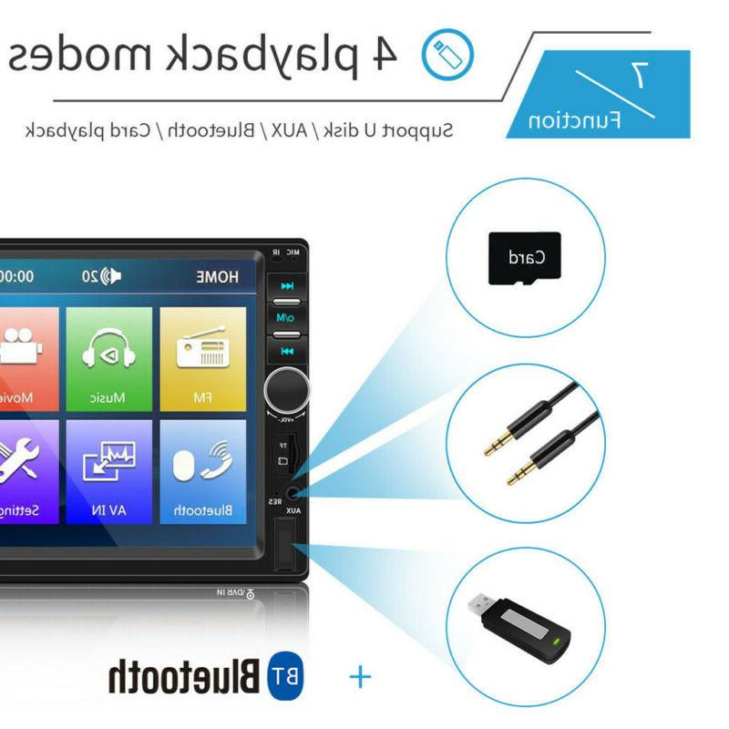 7 12V DOUBLE 2DIN Screen Stereo HD MP5 Player +Camera