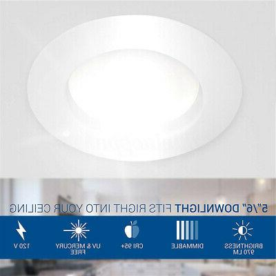 72PC inch LED Downlight Trim Dimmable Light