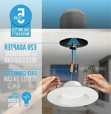 72PC 5/6 LED Downlight Smooth Trim Dimmable Retrofit Light