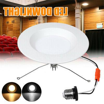 12PC 5/6 inch 15W Recessed Downlight Retrofit LED Dimmable S