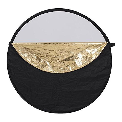 Neewer / 110cm 5-in-1 Collapsible Reflector Bag - Translucent, Gold, and
