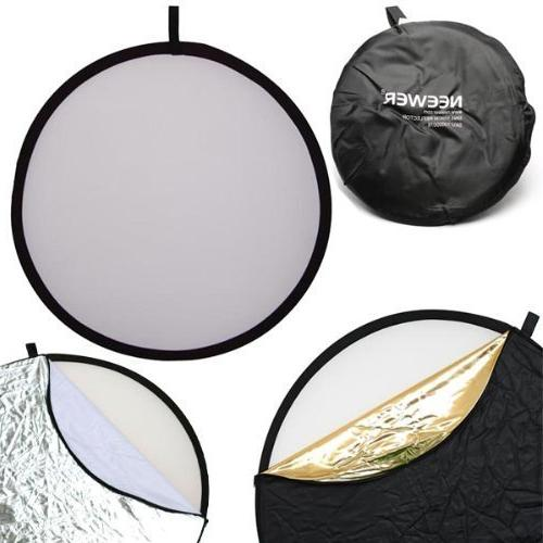 Neewer 43-inch 5-in-1 Multi-Disc Reflector Bag Translucent, Silver, Gold, White and