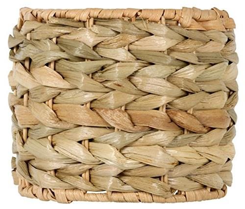 Upgradelights 5 Inch Clip On Seagrass Lamp Shade 5x5x4