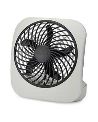battery operated portable small desk fan grey