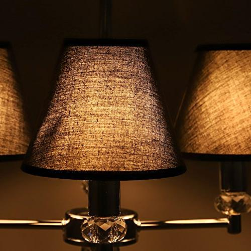 """Wellmet Set Small Chandelier Lamp for on Chandelier Table X 5"""""""