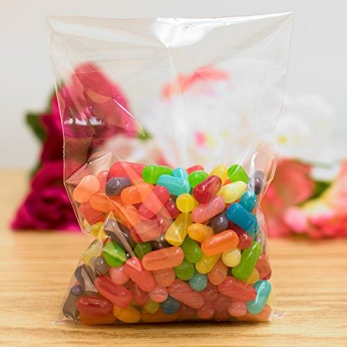 Clear Display Cellophane Supplies, Adhesive Closure for Snacks, Envelope Candy, Supplies by Super Z