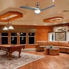 Contemporary Ceiling Fan with LED Panel Light & Remote Antiq