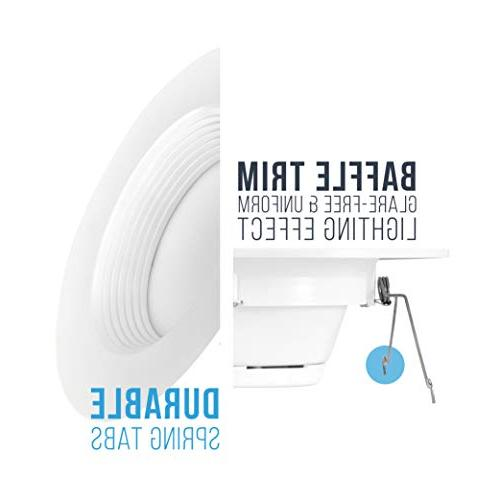 Parmida LED Downlight, 12W Baffle Retrofit Lighting, Light, LED Trim, 3000K Energy Star