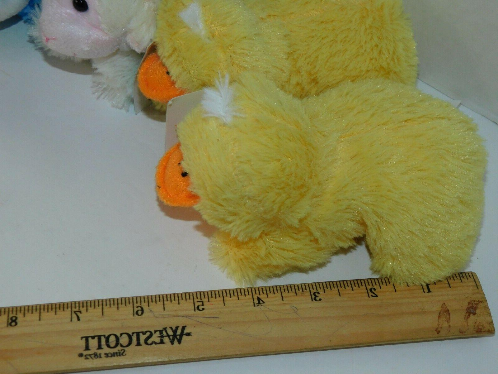 Easter Bunny Plush SIX Animals About inches