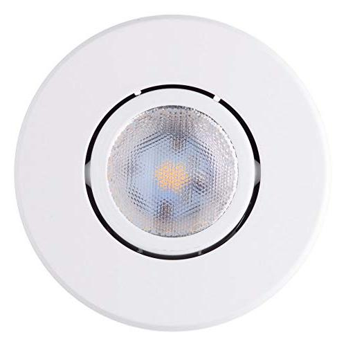 """IC Trim White, Easy Install Clips, LED Included, 4.25"""" Hole"""