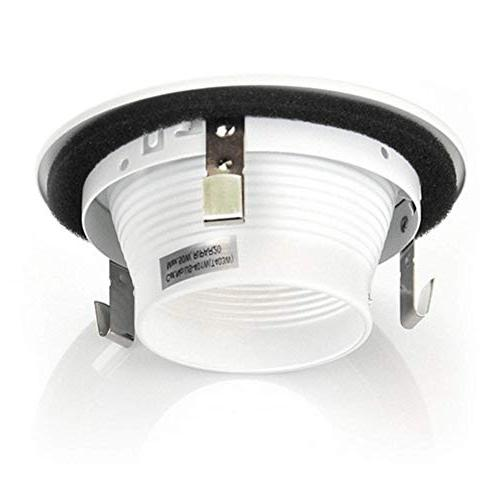 """4"""" Stepped LED Cover, Recessed Line Voltage, Use PAR20 and Bulbs, White,"""