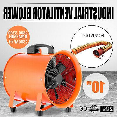 10Inch Industrial Extractor  Fan Blower +5M  Duct Hose Under