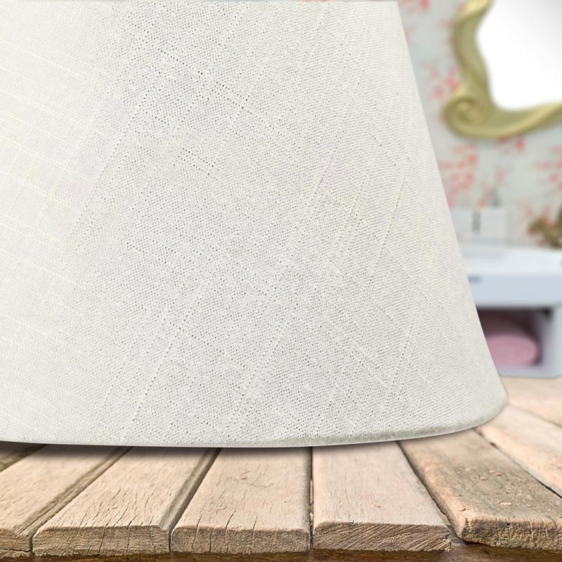"Lamp Linen Fabric White Small 5"" Top x 9"" Bottom x 7"""