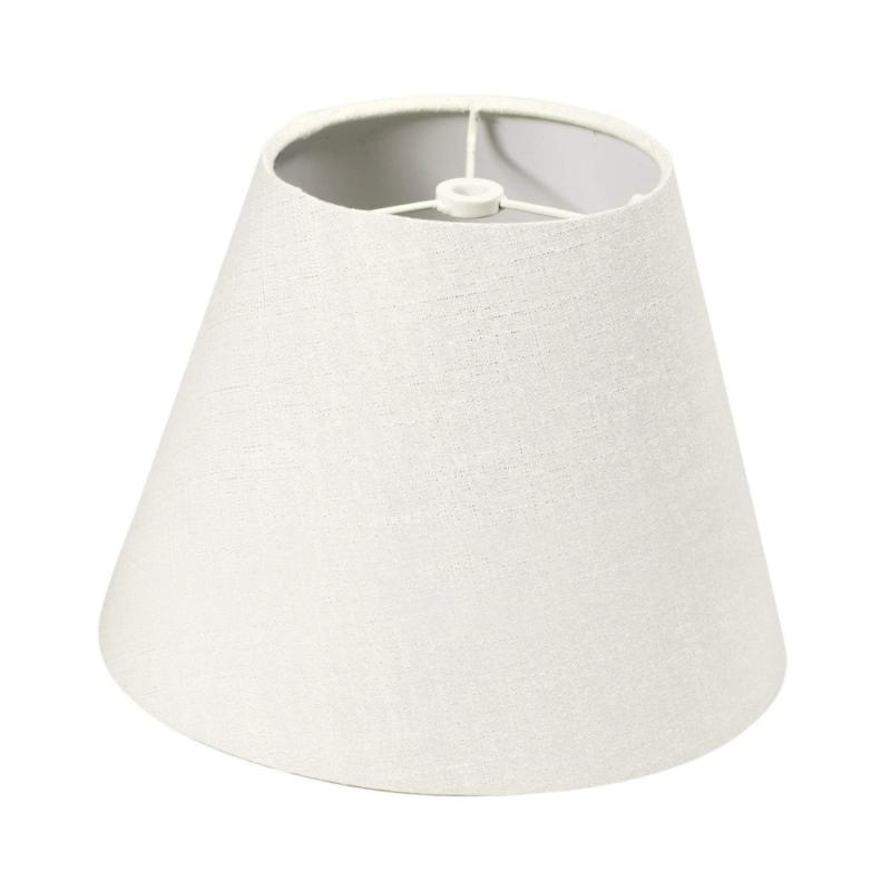 lamp shade linen fabric white small 5