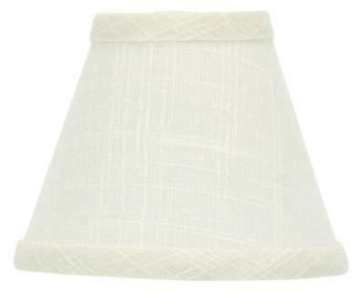 linen 5 inch chandelier lamp shades