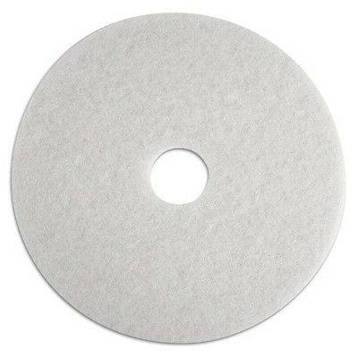 3M Low-Speed Super Polishing Floor Pads 4100, 24-Inch, White
