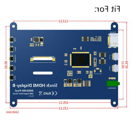 For 5 inch HDMI Display Case LCD HD Capacitive Screen