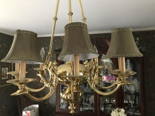 set of 8 chandelier lamp shades 5