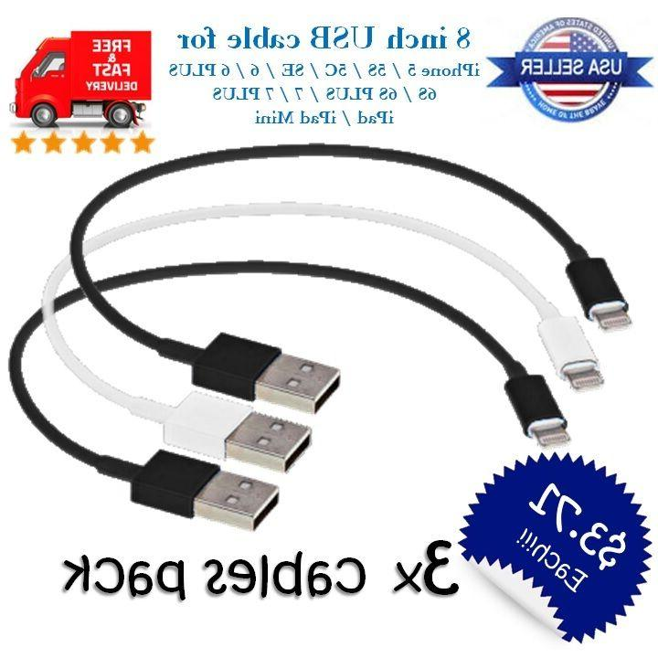 short 8 inch usb cable charger 8pin
