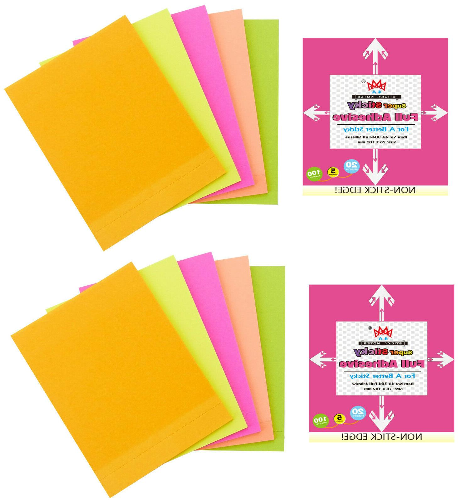 sticky full adhesive notes 4 1 3